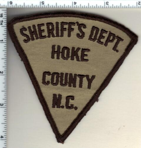 Hoke County Sheriff (North Carolina) Uniform Take-Off Shoulder Patch from 1992