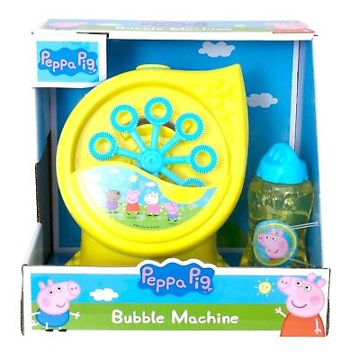 Peppa Pig Electronic Bubble Machine With Bubble Solution Tub New
