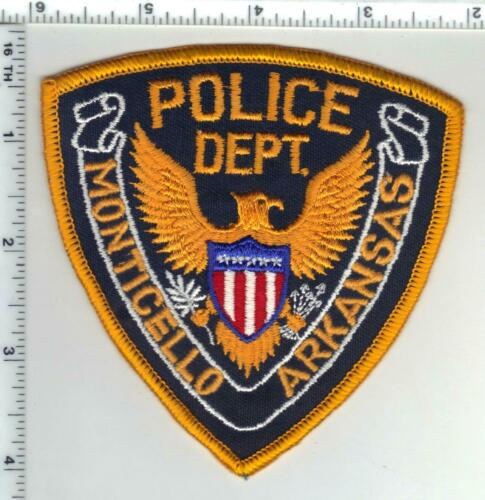 Monticello Police (Arkansas) 1st Issue Shoulder Patch