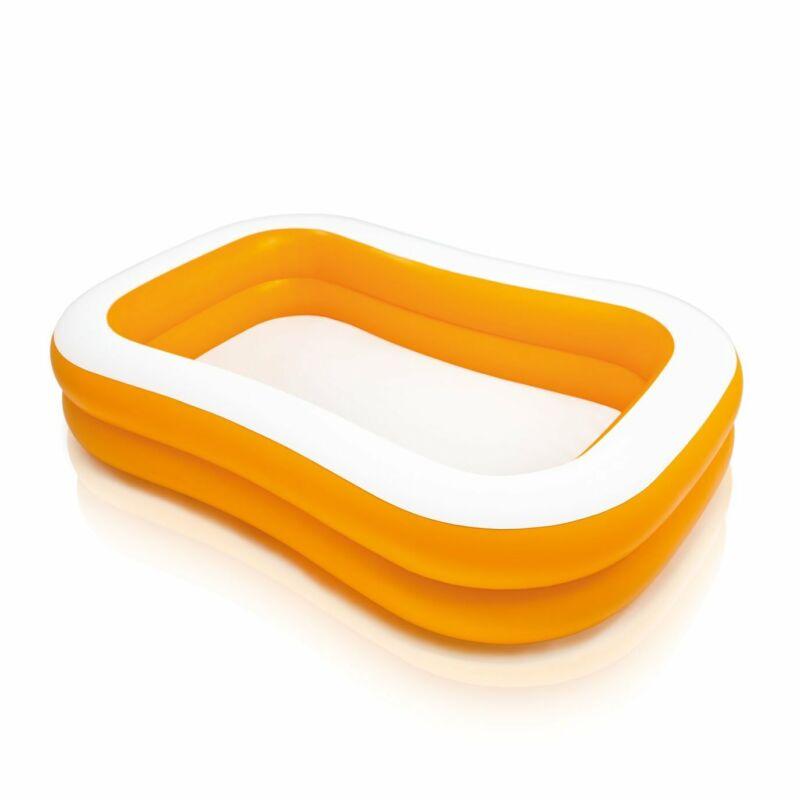 Intex 57181EP 7.5ft x 4.8ft x 18in Mandarin Swim Center Inflatable Pool, Orange