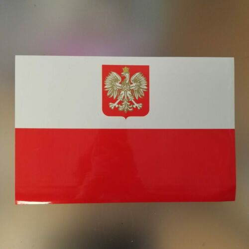 "Poland Polska Polish Flag Car/Office UV Protection Large Magnet - 12"" X 8"""