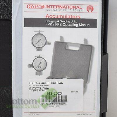 Hydac 152-2023 Fpk 400 F4 G4.1 K Heui1038 Accumulator Charging Gauging Unit