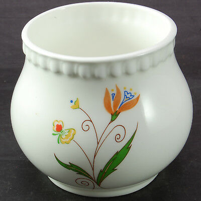 Royal Stafford - Pot with Floral Decoration & Patterned Rim