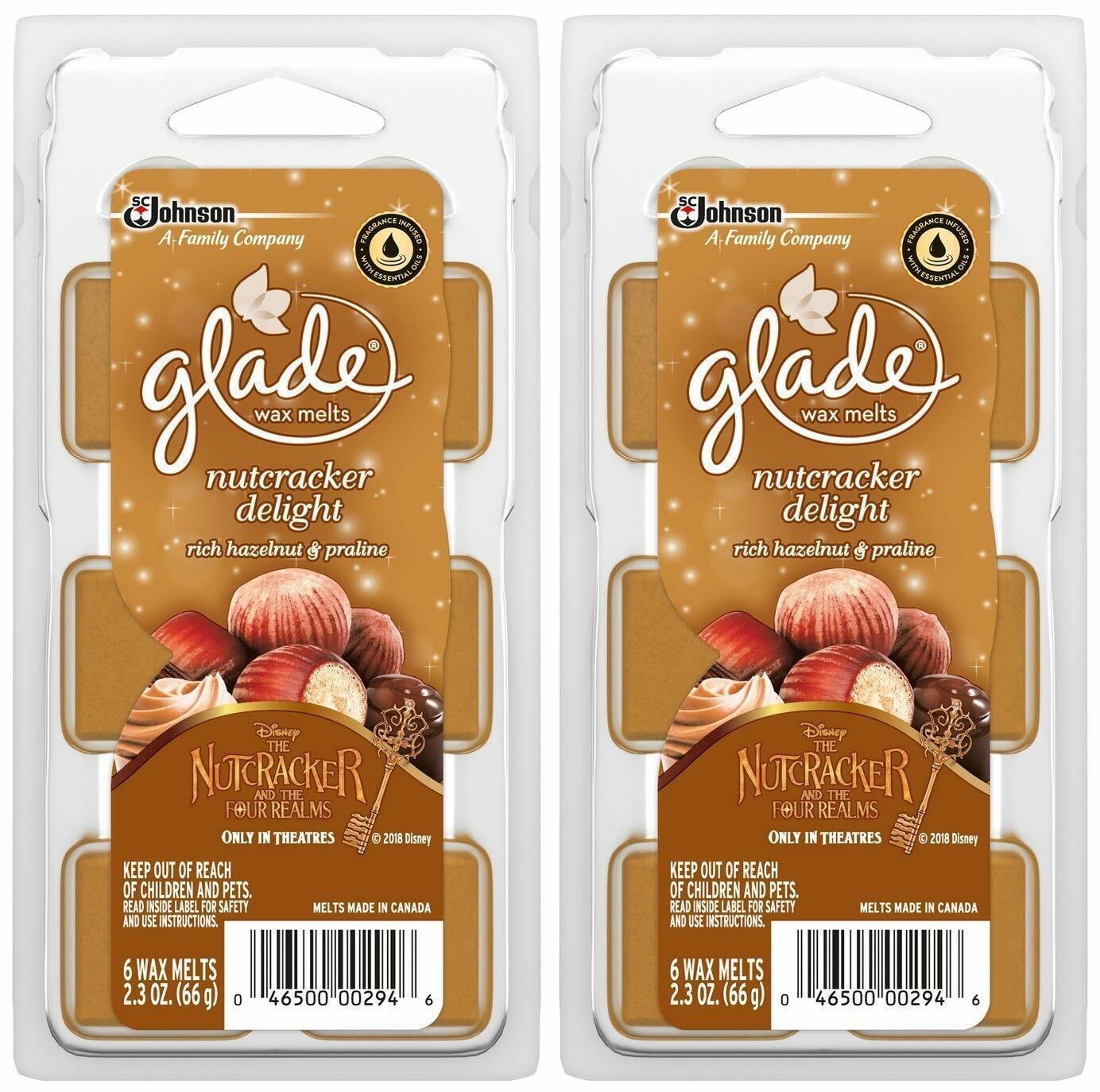2 PACKS ~ New Glade Wax Melts Nutcracker Delight Rich Hazeln