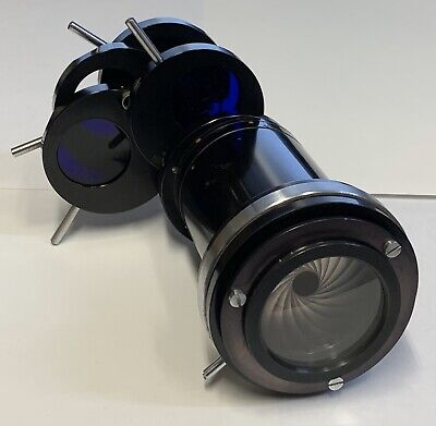 Vintage Zeiss Microscope Filter Lens Assembly With Aperture