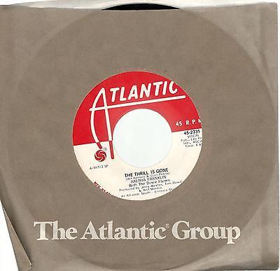 Aretha Franklin  The Thrill Is Gone  B W Spirit In The Dark   Promo 45