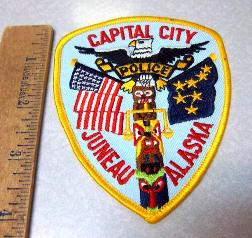 Alaska NEW Embroidered Patch, Juneau Alaska Police Souvenir Shoulder Patch
