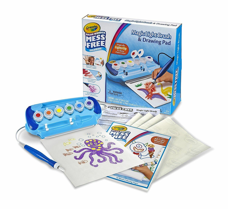 Crayola Color Wonder Magic Light Brush & Drawing Pad Mess Coloring ...