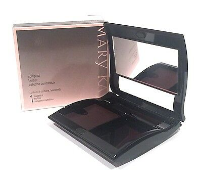 MARY KAY MAGNETIC BLACK COMPACT~UNFILLED~MEDIUM~NIB~COSMETIC