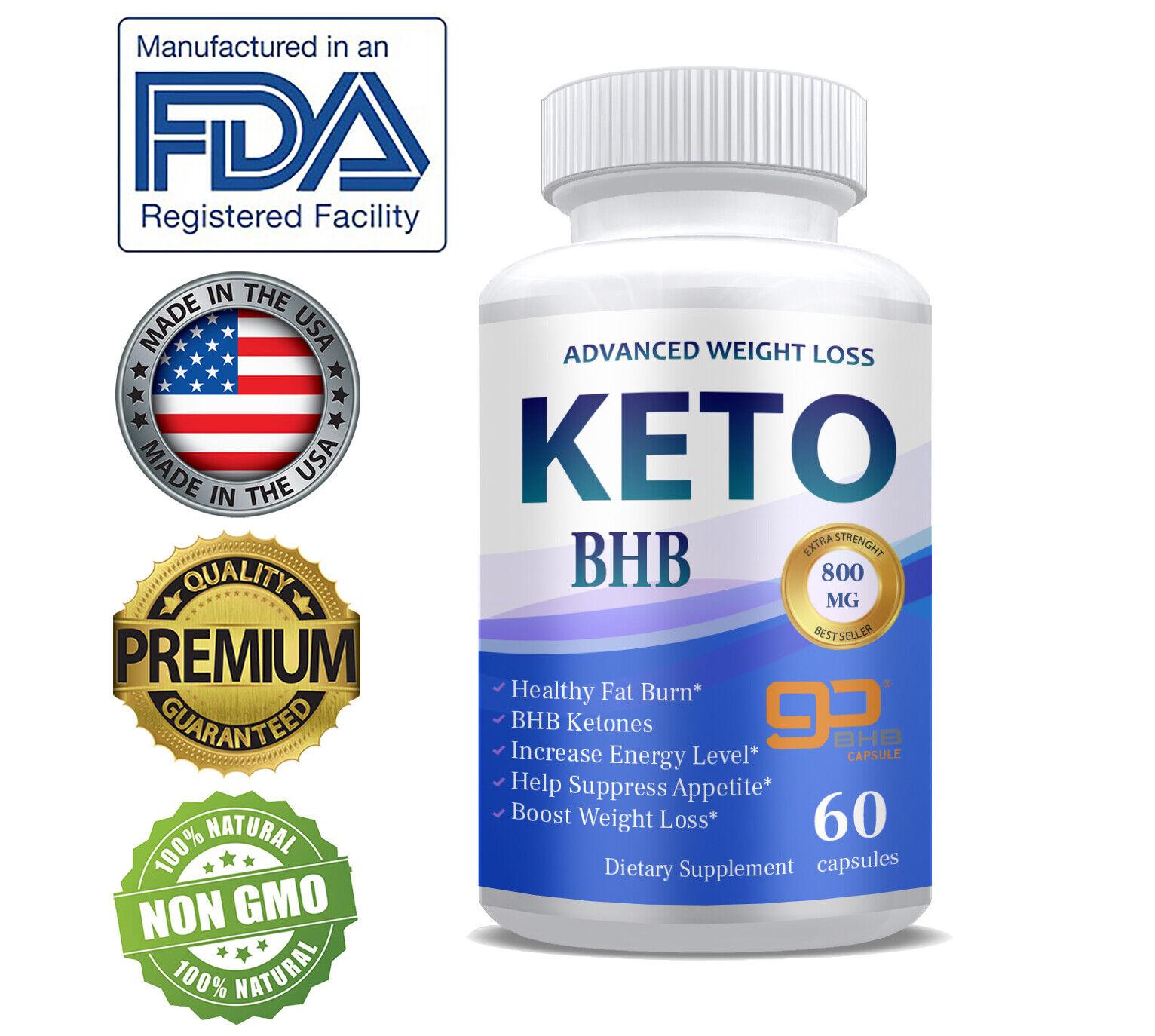 Shark Tank Keto Diet Fat Burn Fast  GO BHB Ketones  Weight Loss Supplement Pills