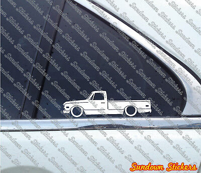 """2X Lowered car stickers - for Chevrolet C10 """"Action Line"""" pickup 1967-1972 c-10"""