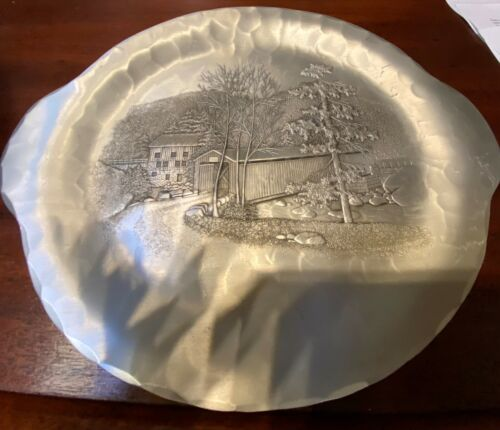 Wendell August Forge Aluminum Covered Bridge Two Handle Plate