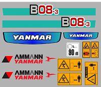 Yanmar B08-3 Mini Escavatore Serie Decalco Con Segnali Di Avvertimento Sicurezza -  - ebay.it