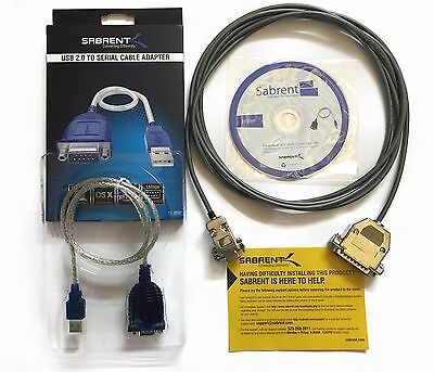 15ft - Fanuc Rs232 Serial Cable Db9f To Db25m Cnc Dnc For Pclaptop Send Program