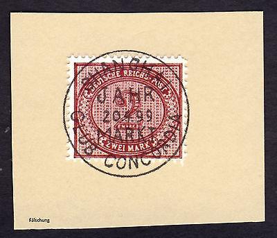 Briefstück Auslandspost China Vorläufer MiNr. V 37 o SHANGHAI CLUB 1899 Falsch