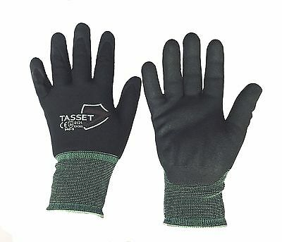Tasset 940 Nitrile dipped work gloves coated nylon 15ga Industrial S, M, L, XL  ()