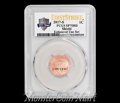 2017-S Enhanced Uncirculated Set Lincoln Cent PCGS SP70RD FIRST STRIKE !