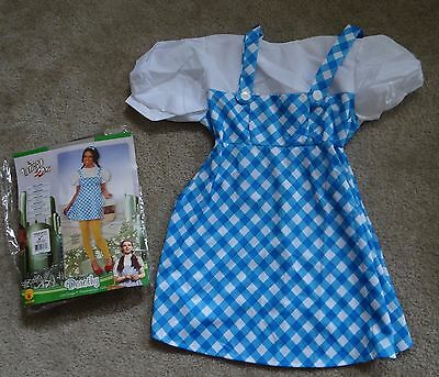 Rubies Wizard Of Oz Dorothy Blue/White/Yellow plaid Teen Costume dress ONLY,M  - Dorothy Teen Costume