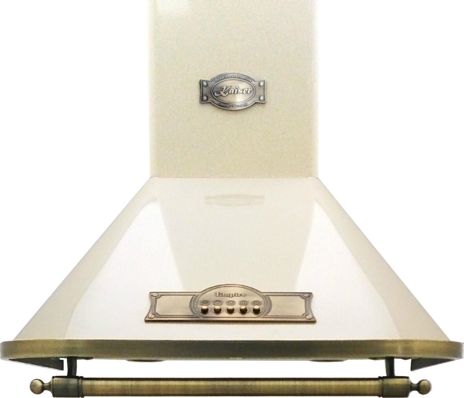 wandhaube 60cm kaiser dunstabzugshaube 910m h elfenbein griff bronze mit umluft eur 332 49. Black Bedroom Furniture Sets. Home Design Ideas