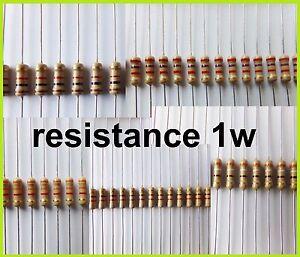 RESISTANCE-1W-1ohm-a-330kohm-5