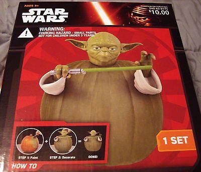 Yoda Pumpkin (Disney Star Wars Yoda Pumpkin Decorating Kit New in Box)