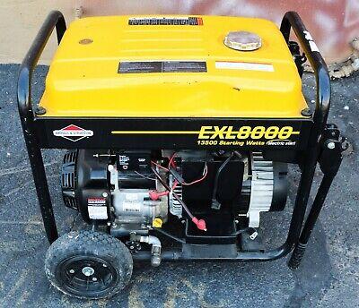 Briggs Stratton Portable Generator Exl8000 13500 Starting Watts Model 030244