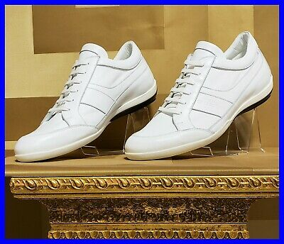 NEW VERSACE COLLECTION WHITE LEATHER SNEAKERS 42 - 9