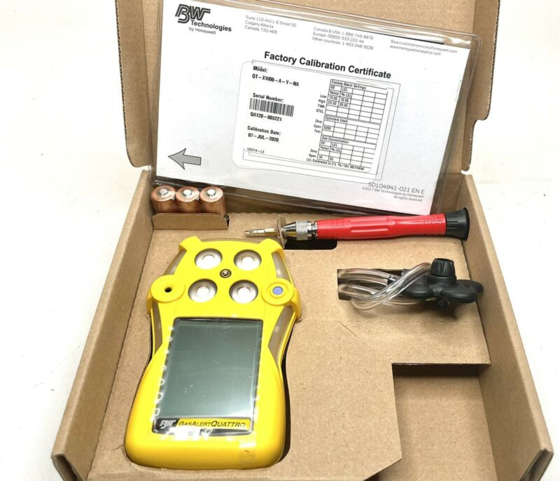 BW Technologies QT-00HM-A-B-NA GasAlertQuattro 2-Gas Detector, H2S and CO, NEW!