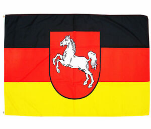 Fahne Niedersachsen 90 x 150 cm niedersächsische Flagge Bundesland BRD Wappen