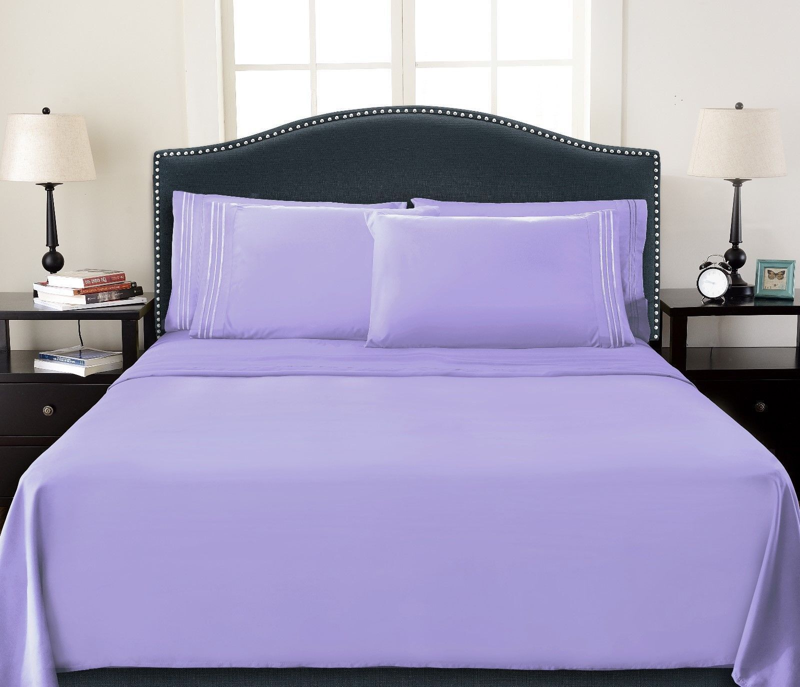 Deep Pocket 4 Piece Bed Sheet Set Egyptian Comfort 1800 Count Color Sheets Sale
