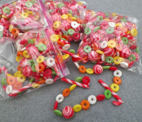 Vintage Sugared Candy Christmas Garland, Soft plastic 64 feet