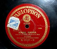 78 Giri Gabre' Nina Nanna - La Canzone Dell'amore - Accompagnamento Orch. Dobbri -  - ebay.it