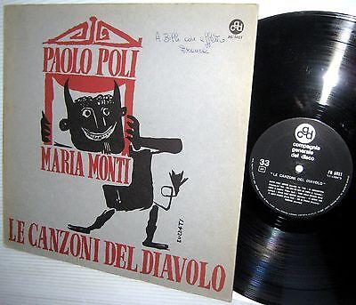 Paolo Poli   Mario Monti Le Canzoni Del Diavolo Italy Pop Cabaret Cgd Fg 5021 Lp