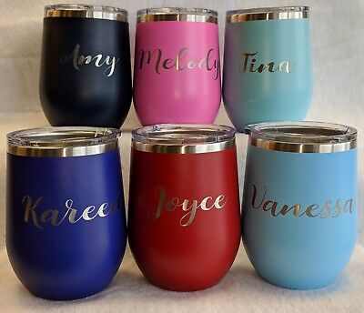 INSULATED WINE GLASSES, STEMLESS PERSONALIZED wine glasses, personalized - Stemless Wine Glasses Personalized