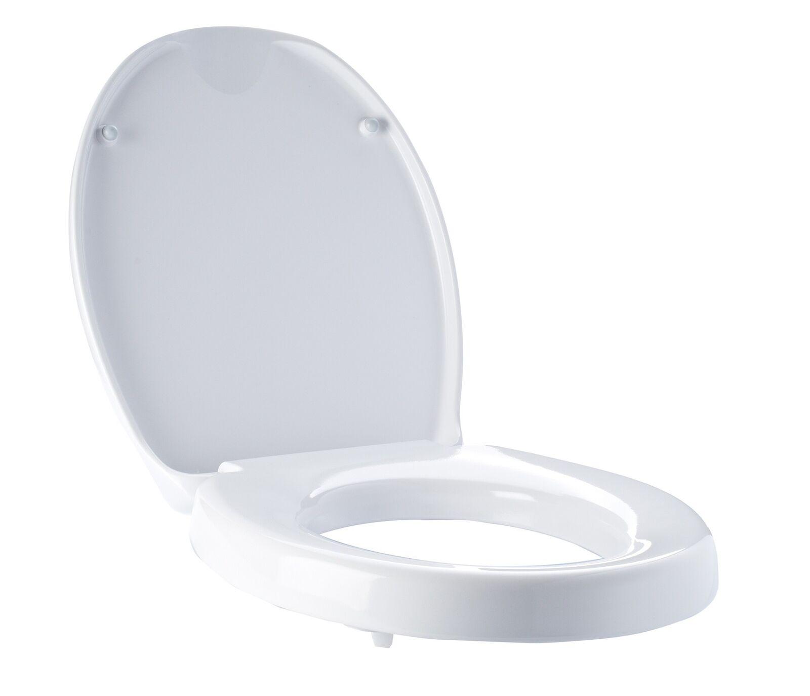 WC Erhöhung Toiletten Sitzerhöhung Toilettenauflage Ridder Absenkautomatik TÜV
