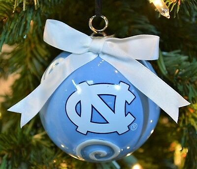 North Carolina Tar Heels Ceramic Ball Christmas Ornament