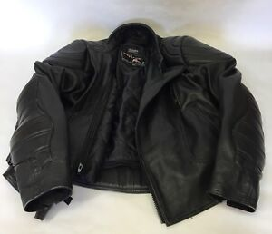 Motor Cycle Leather Jacket With Protection Padding Size 46