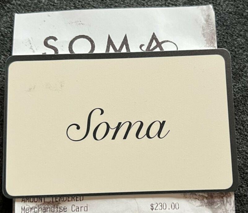 Soma Intimates Merchandise Credit/Gift Card $230
