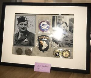 Original WW2 101ST AIRBORNE LOT, Band of Brothers, Patches, Signatures