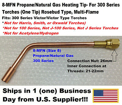 8-mfn Propanenatural Gas Heating Tip-1 Tip-300 Series For Victor Type Torches