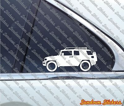 2X offroad 4x4 outline stickers - for Toyota FJ Cruiser with roof rack
