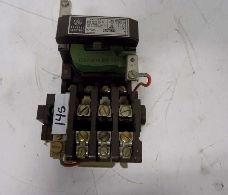 GENERAL ELECTRIC SIZE 1 27AMP MOTOR STARTER CR206C1