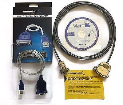 100ft Fanuc Rs232 Serial Cable Db9f To Db25m Cnc Dnc For Pclaptop Send Program