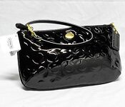 Coach Op Art Black Wristlet
