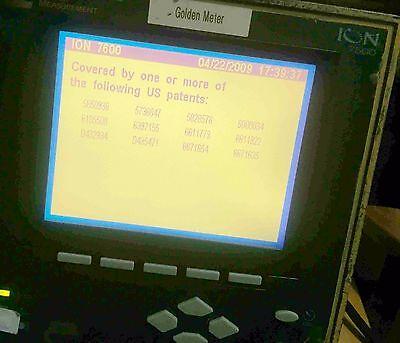 Schneider Ion7500 Powerlogic P7500a0c0b6c1a0a Power Meter With Com Card