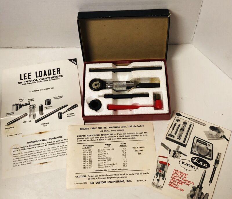 Lee Loader Complete Reloading Tool For Pistol or Rifle Cartridges Vintage