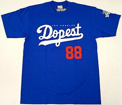 STREETWISE 88' BACK T-shirt DOPEST Urban Streetwear Tee Mens Blue -