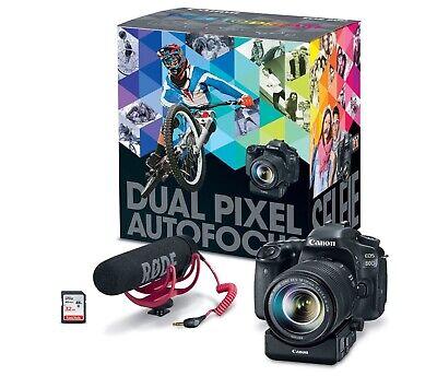 Canon EOS 80D DSLR Camera Premium+ Video Creator Kit with EF-S 18-135mm Lens