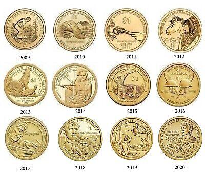 2008-P Sacagawea Native American Dollar Uncirculated BU Golden