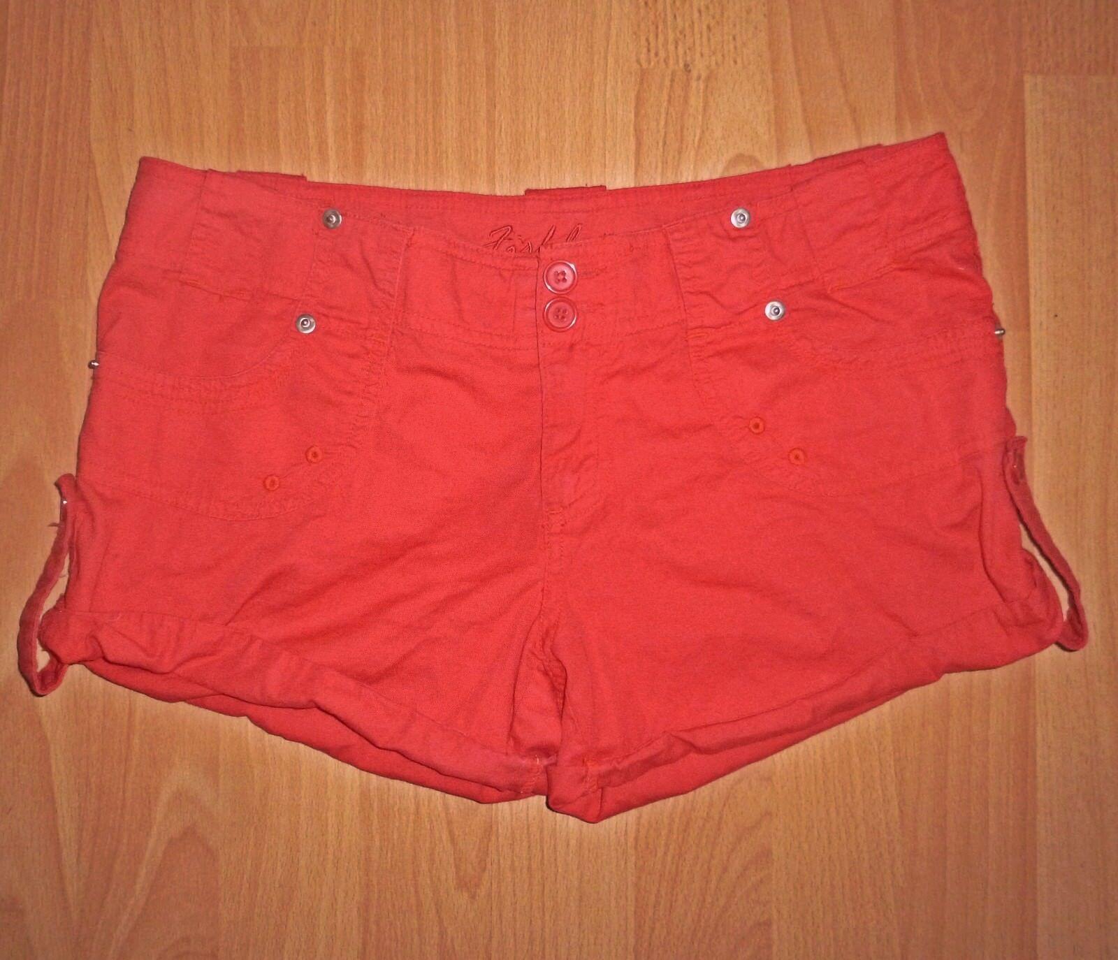 rote Fishbone Jeans Hotpants, Short, kurze Hose  Größe S, Damen